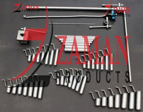 Mis Retractor System Tubular Retractors Silver 46 PCs Set Surgery Instruments ZP