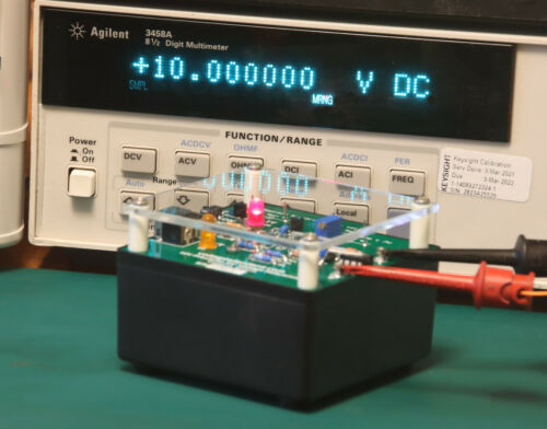 10V Reference Voltage Standard runs on batteries or included external supply