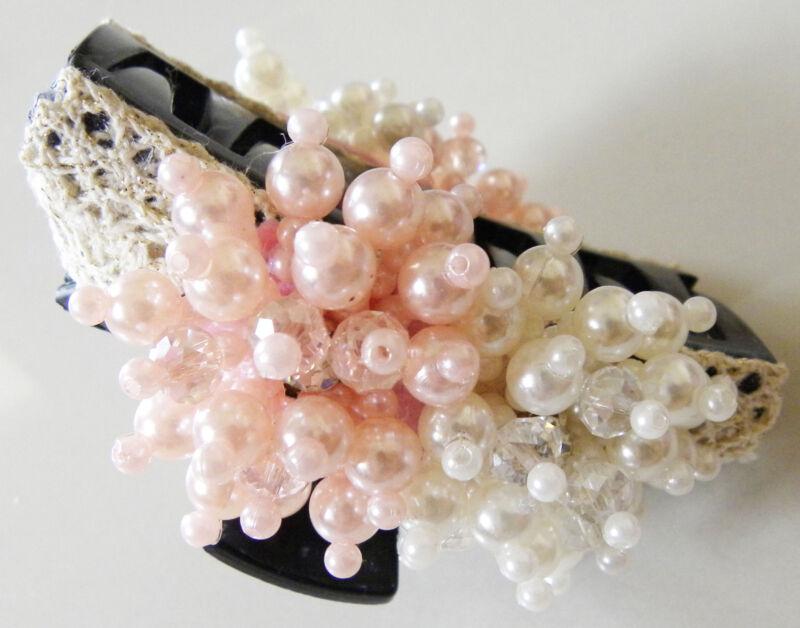 Women Pearl Crystal Handmade Hair Claw/Hair Clip/ Hair Accessories
