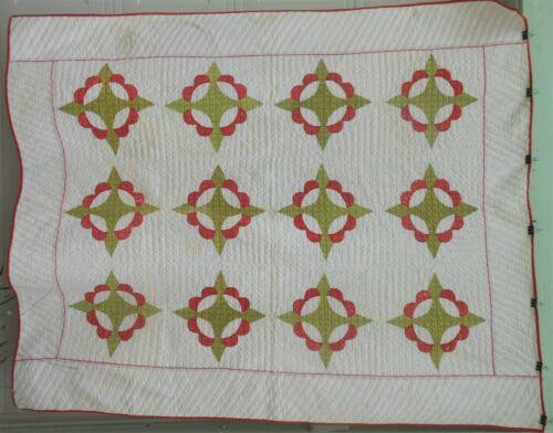 Very Nice Antique Pennsylvania Applique Quilt, Hand Stitched