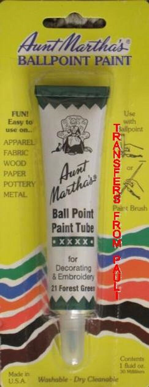 Aunt martha s forest green ball point embroidery fabric