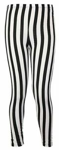 WOMENS-STRIPE-PRINT-PATTERN-LADIES-BLACK-WHITE-ELASTICATED-WAIST-LONG-LEGGINGS