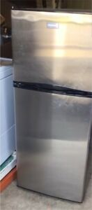 Stainless Steel Frigidaire Top Freezer Apartment-Size Fridge