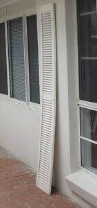 Louver exterior decorative shutters x2 Glendenning Blacktown Area Preview