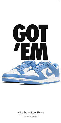 Nike Dunk Low UNC University Blue Size 15 Brand New **Confirmed Order**