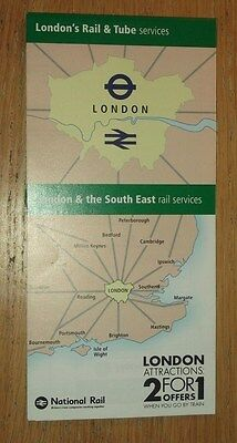 London & SE Rail & Tube Services fold out map - Dec 2016 edition