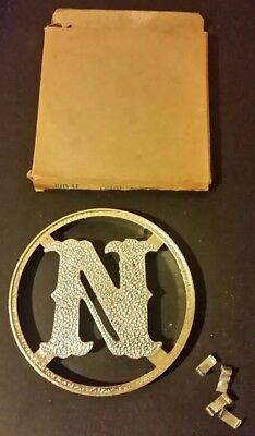 NOS Vtg Mid Century Screen Door Grille Initial