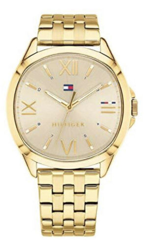 Tommy Hilfiger Bussiness Women Watch Face & Golden Bracelet 1781889 $135 Jewelry & Watches