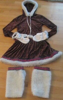 Woman's Eskimo Kisses Adult Costume Halloween Size Small Excellent Condition 3pc (Excellent Halloween Costumes)