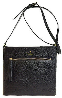 Nwt Kate Spade Chester Street Dessi Leather Crossbody Bag Messenger Black Cute
