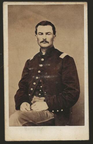 Civil War CDV Union Lt George Galligan 17th Michigan Vols KIA South Mtn MD