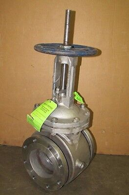 Powell 6.00 2456 Cf8m 316 Stainless B16.34 Cl 150 6 Flanged Gate Valve Jacketed