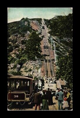 DR JIM STAMPS US MOUNT LOWE INCLINE PACIFIC ELECTRIC RAILROAD VIEW POSTCARD
