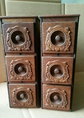 6 VERY NICE ANTIQUE TREADLE SEWING MACHINE DRAWERS QUARTER SAWN OAK  WITH FRAMES