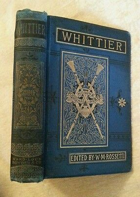 Poetical Works Of John Greenleaf Whittier Antique 1898 Illustrated Victorian
