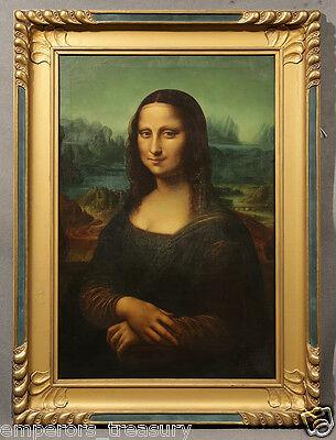 """Mona Lisa"" dated 1921 Signed Oil Painting - After Leonardo Da Vinci"