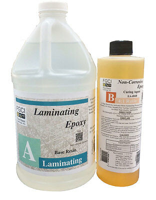 Laminating Epoxy Resin 41 Kit 12 Gl - Base 1 Pt - Curing Agent 137706