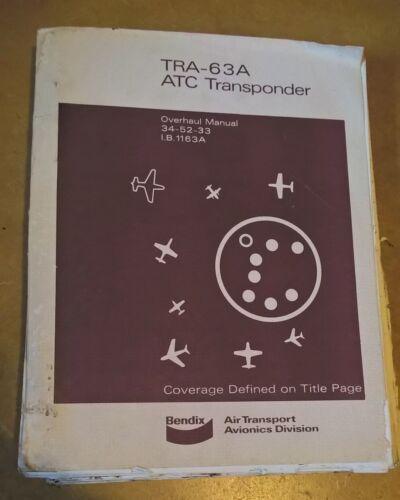 Bendix King TRA-63A ATC Transponder Maintenance/overhaul service manual IB1163A