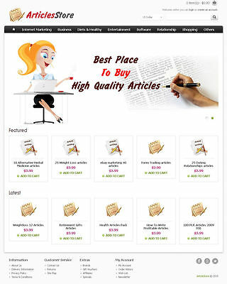 Article Store Website For Sale Articles Or Digital Market