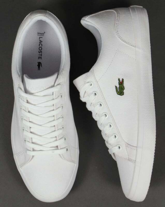 Lacoste Lerond Canvas Trainers - White