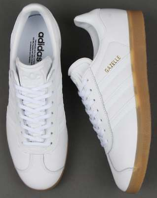 Adidas Originals Gazelle (Leather) - White & Gum. BNIBWT.