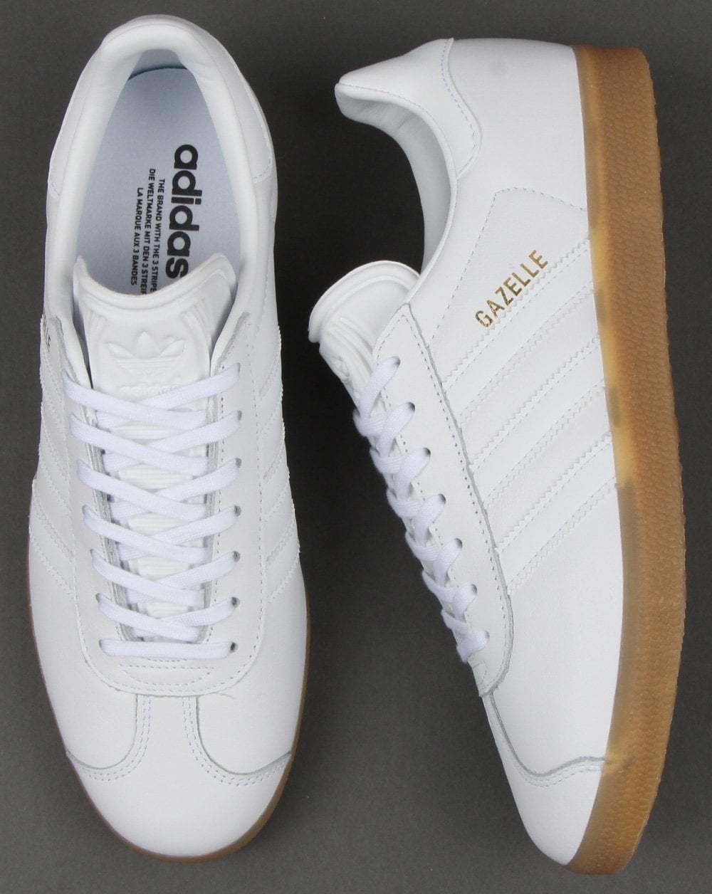 adidas originals gazelle white leather