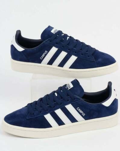 adidas Campus Trainers in Navy & White suede SALE dark blue retro 3 stripes