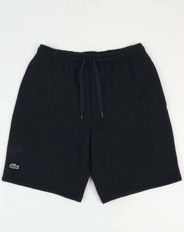 BNWT Lacoste Rear Pocket Fleece Shorts Navy