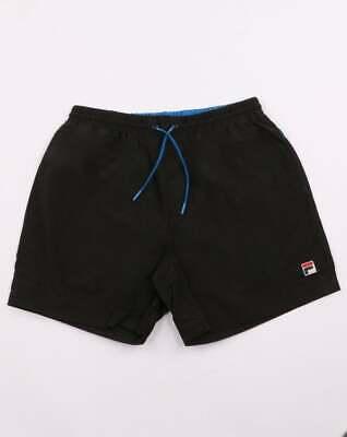 Fila Vintage Martin Swim Shorts in Black - swimmers, beach shorts, trunks SALE