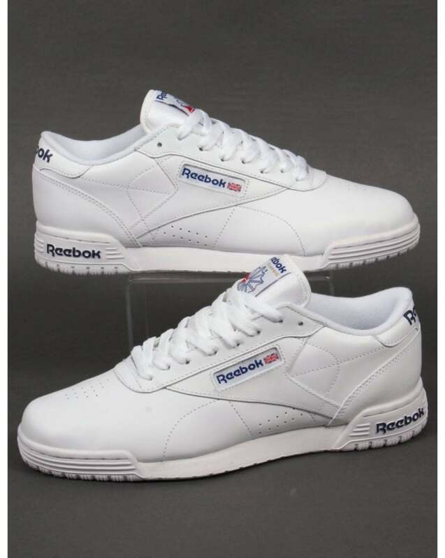 ac2378448761fb Reebok Ex-O-Fit Lo Clean Logo Trainers in White - exofit gym classic ...