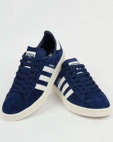 meilleure sélection 7929d e5c73 adidas Campus Trainers in Dark Blue & White suede - navy retro 3 stripes  SALE
