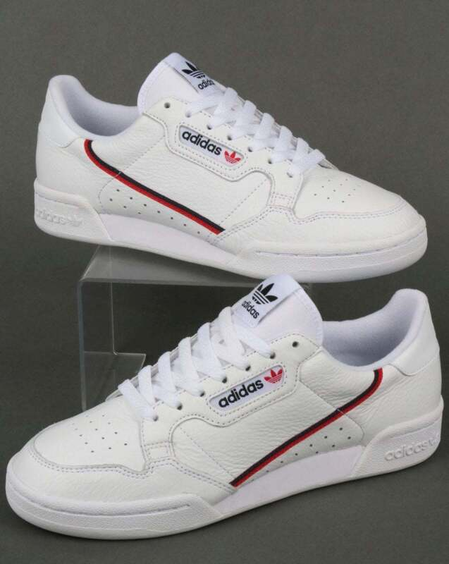 najtańszy dobrze out x uroczy adidas Continental 80 Trainers in White, Red & Navy - Rascal leather retro