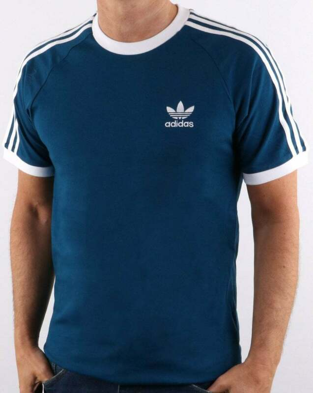 adidas Originals 3 Stripes T Shirt in Legend Marine Blue retro trefoil tee