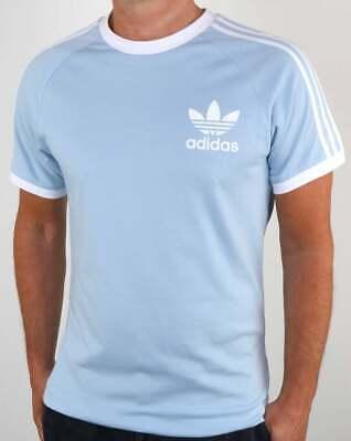 Adidas Originals Retro California Short Sleeve Crew Neck Men's T-Shirt Sky Blue