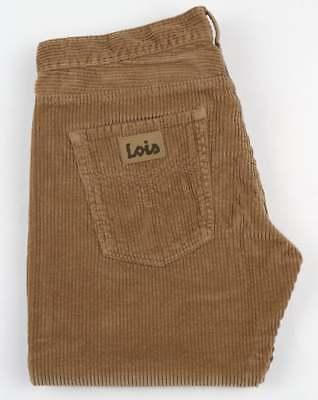 Lois Dallas Jumbo Cords in Dark Sand- cult 80s Spanish denim jeans corduroys (Denim Corduroys)