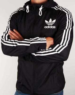 Adidas Originals California Windbreaker Black White Firebird Hoodie Jacket