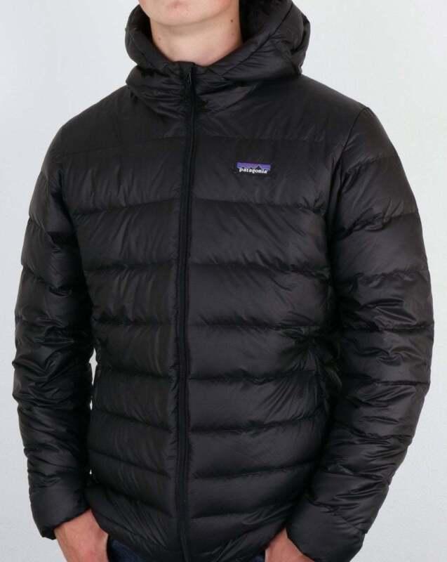 5f4777b85 Patagonia Hi-Loft Down Hooded Jacket in Black puffer puffa coat water  repellent