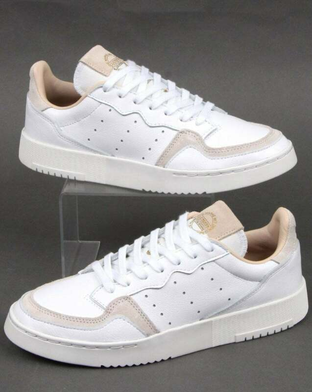 adidas Supercourt Trainers in White classic look shoe, leather, Originals
