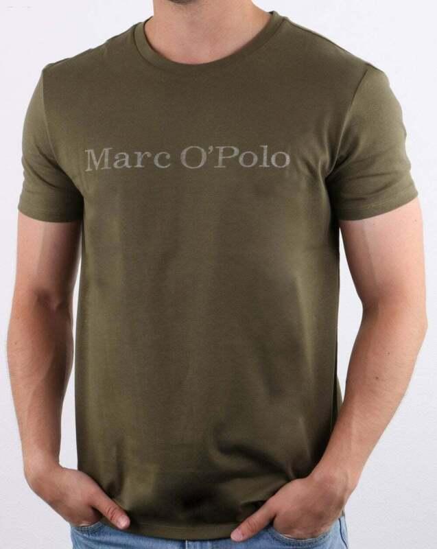 Marc O/'Polo Tonal Logo T Shirt in Azure Blue short sleeve cotton crew tee