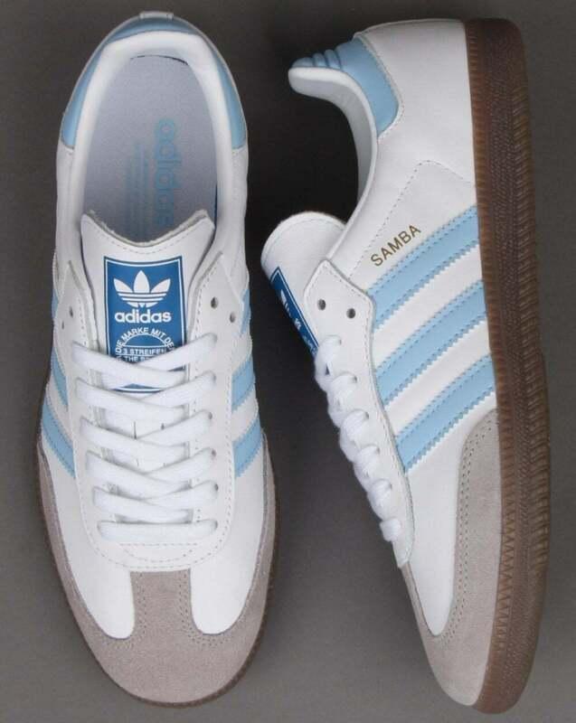 adidas samba light blue Online Shopping