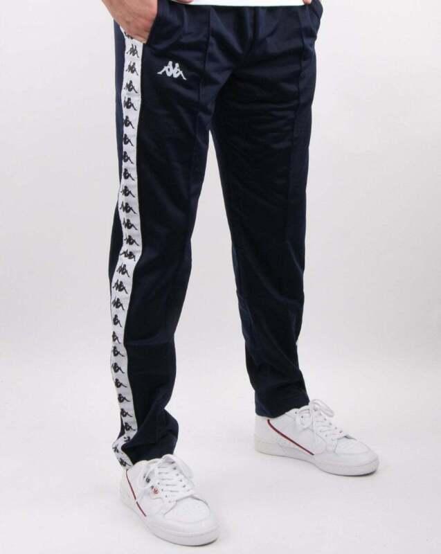 Kappa Slim Fit Track Pants in Navy Blue Banda Astoria tracksuit bottoms
