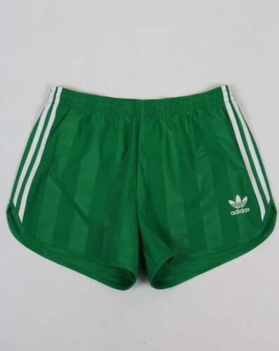 Adidas Originals 3 Stripe Shorts In Green Retro Football
