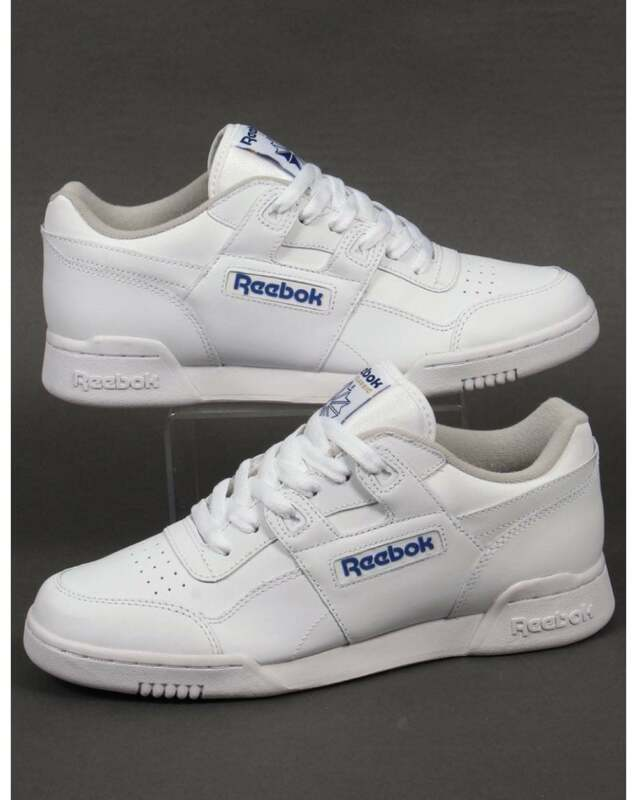 d59ee60bf52f Reebok Workout Plus Trainers in White - classic H Strap soft full grain  leather