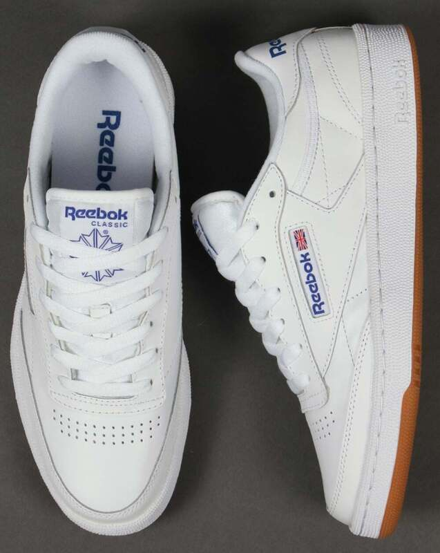 reebok club c 85 trainers white grey gum