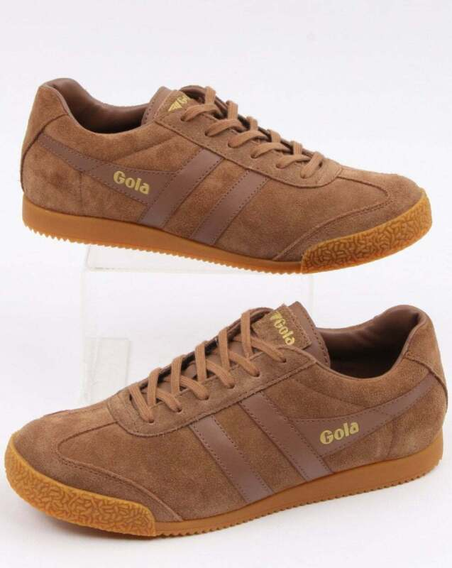 Gola Harrier Suede Trainers in Tobacco