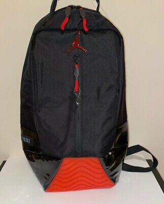 NIKE AIR JORDAN RETRO XI 11 BRED LE QS PE BACKPACK BLACK RED NWT WIN LIKE 96