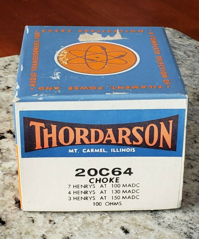 VINTAGE NEW IN BOX THORDARSON FILTER CHOKE 20C64 MINT!
