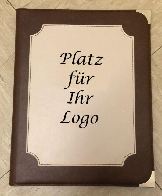 Speisekarten mit Logoprägung Menükarte Getränkekarten von RH