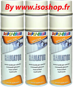peinture pour radiateur blanc creme ivoire brillant renovation teinte 6x400ml ebay. Black Bedroom Furniture Sets. Home Design Ideas