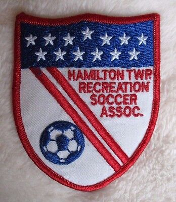 "Hamilton Twp Recreation Soccer Assoc Patch  vintage 2 7/8"" x 3 3/4""  New Jersey"